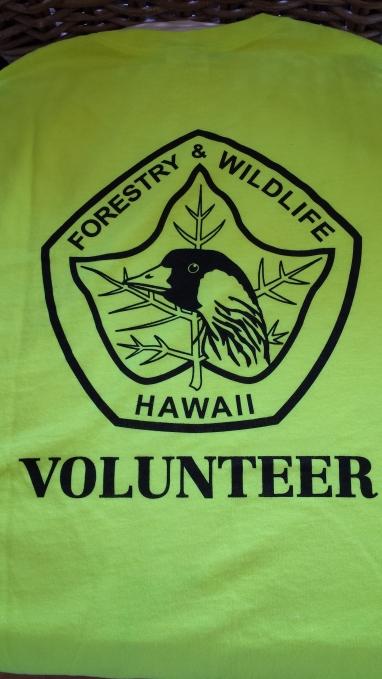 Volunteer T-Shirt, Forestry & Wildlife, Hawaii