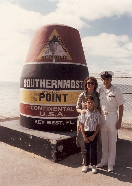 Brett's last reinlistment, at the Southernmost Point in Key West, FL. Shortly after this we headed back to Japan for a second tour.