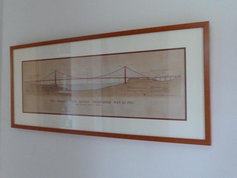Cross section of the Golden Gate bridge.