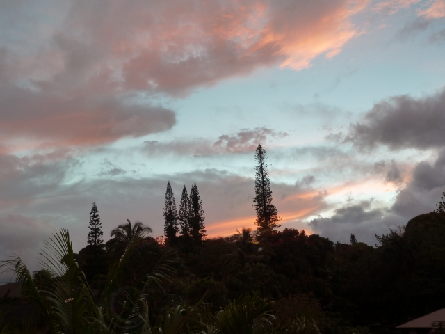 Something I will miss: Sunset views from the dining room window
