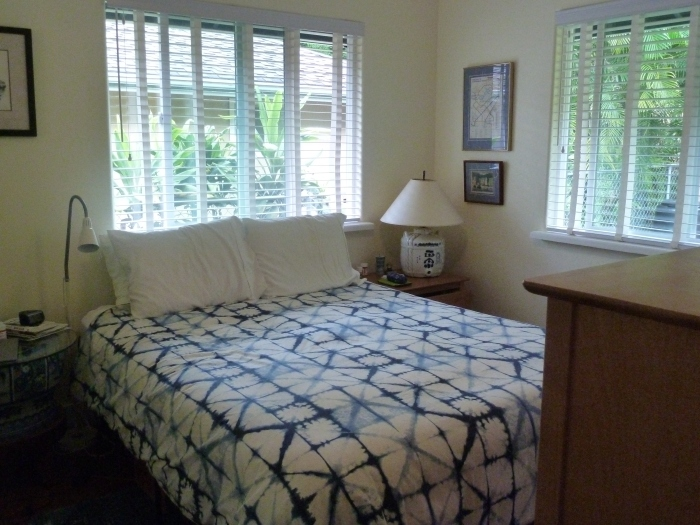Master bedroom, located in the northwest corner of the house.