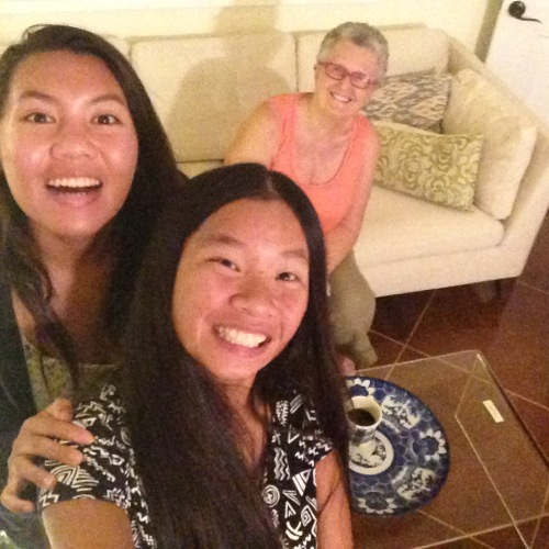 YaYu won a selfie stick at the annual Key Club - Kiwanis dinner this week, and I promptly photobombed their first picture.