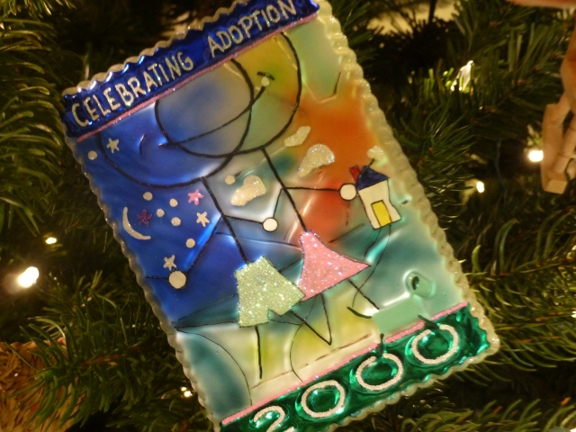 "Christopher Radko 2000 ""Celebrating Adoption"" ornament"