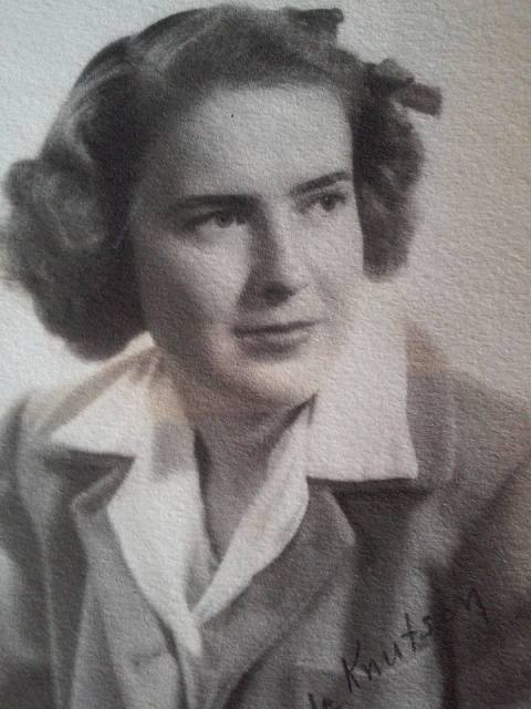 Mom's college graduation portrait, 1945