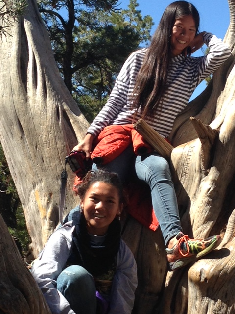 WenYu (feeling better) and YaYu on a Rim Trail hike