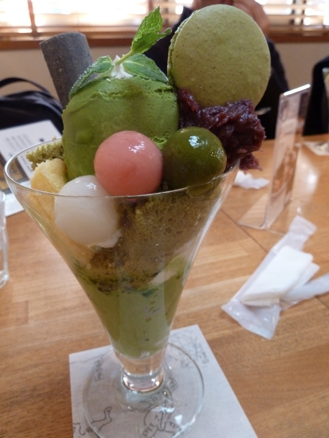 Ninenzaka (or Sannenzaka) is a great place to stop and enjoy a Kyoto specialty: a matcha (green tea) parfait. YUM!
