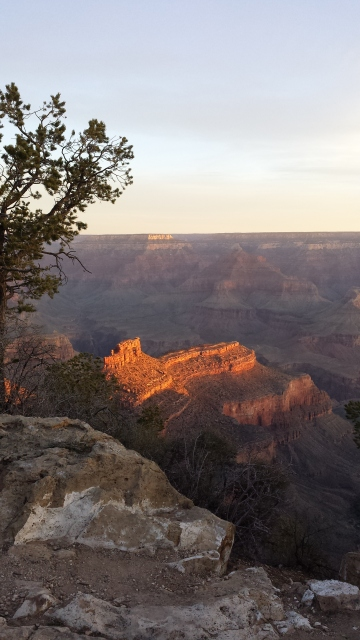 Sunrise on our last morning at the canyon