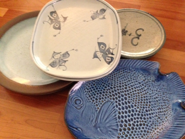 Some of my Seto pieces. The fish plates are always used when we have pizza!