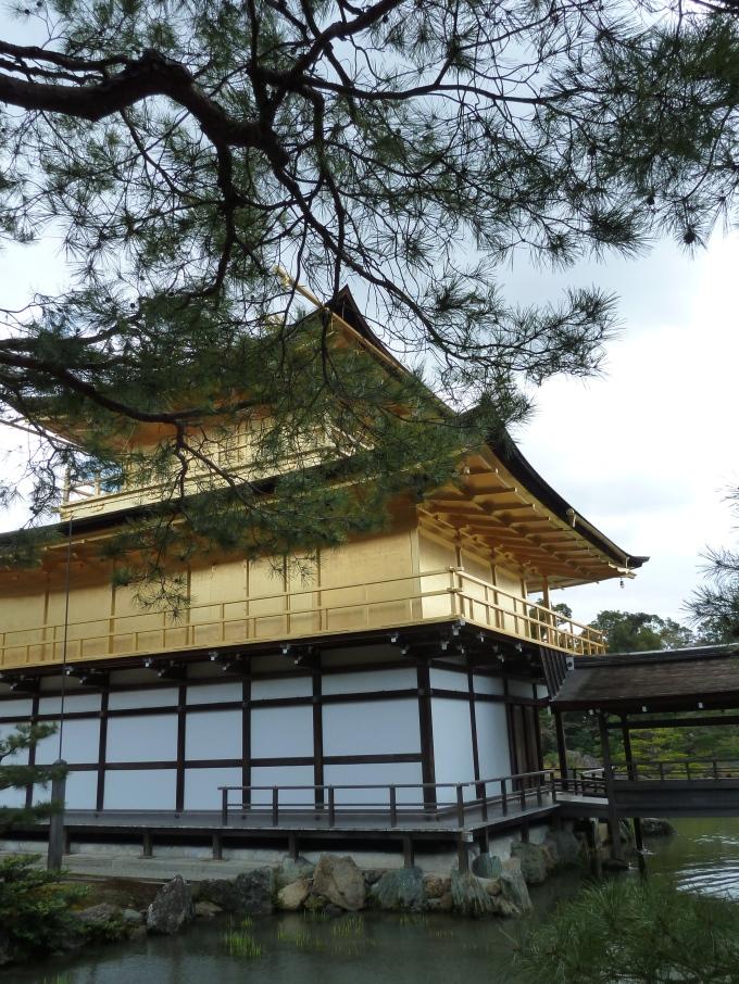 The side and back of Kinkakuji