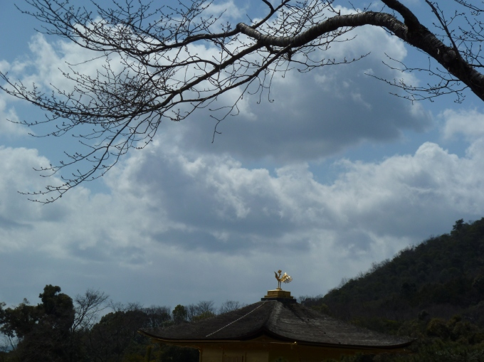 Kinkakuji under a wintery sky