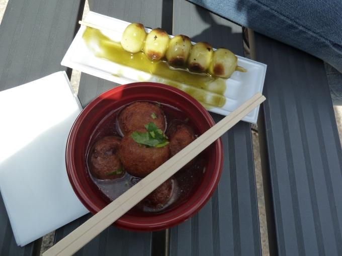 Tasty snacks from the Kinkakuji snack shop