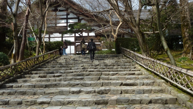 The approach to Ryoanji Temple