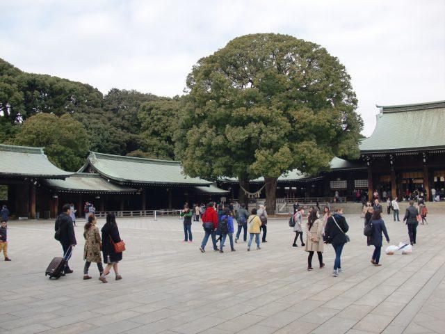Inside the main shrine complex
