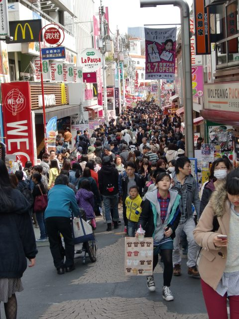 Takeshita Street is always crowded, but it's safe and loads of fun to visit.