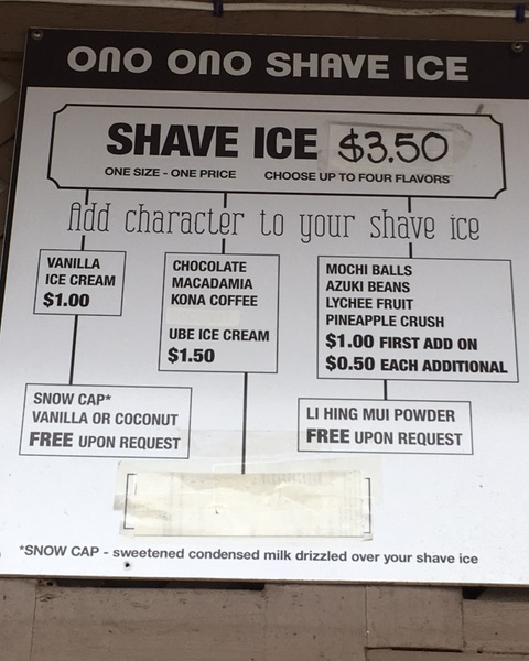 Flow chart for upgrading your shave ice