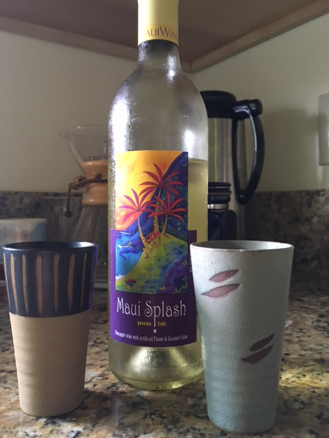 Starting off summer vacation with some passionfruit-pineapple wine (Thanks Denise & Jim for the tip!)
