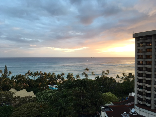 Sunset view from our lanai on Thursday evening