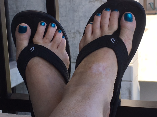 New slippahs and a pedicure!