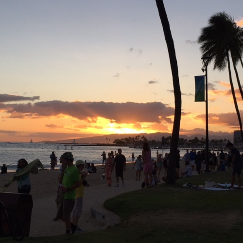 The remains of the day: Waikiki sunset