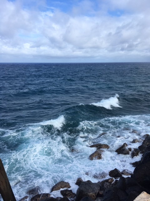 The surf is alway churning under the jetty . . . beautiful, but deadly