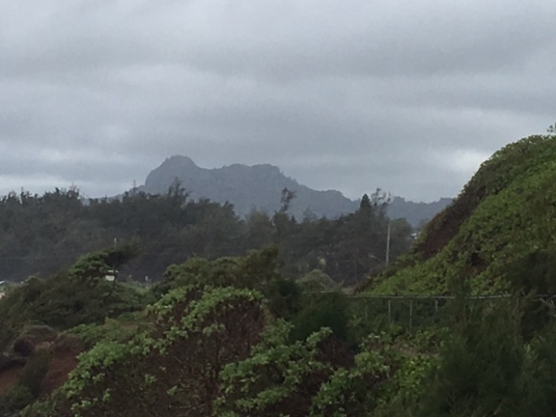 Nou'nou, The Sleeping Giant. Ancient Hawaiians lit fires behind the mountain to frighten off intruders coming to Kaua'i