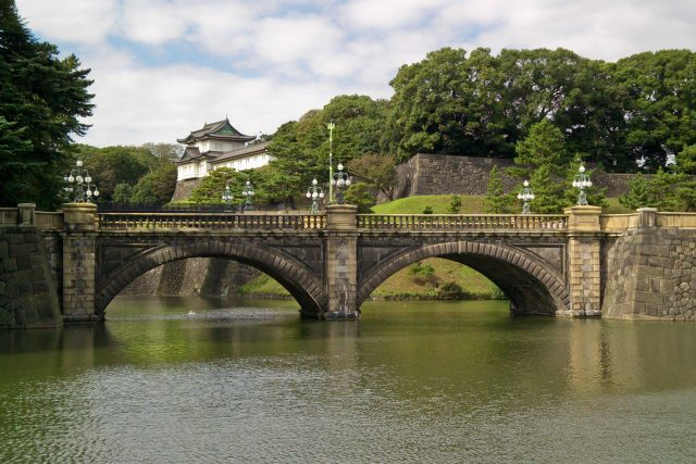 The path around the Imperial Palace is 3.3 miles - last year our son walked 12 laps!