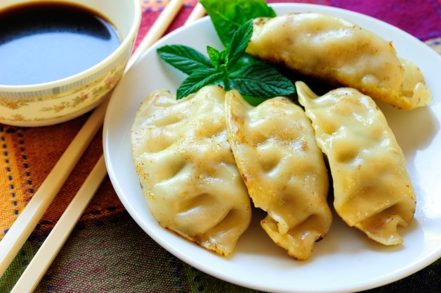 I always keep a bag of potstickers in the freezer!