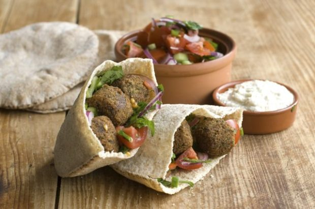 Falafel in pita bread - yum!