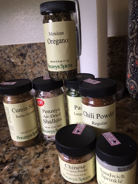 My latest order from Penzey's spices