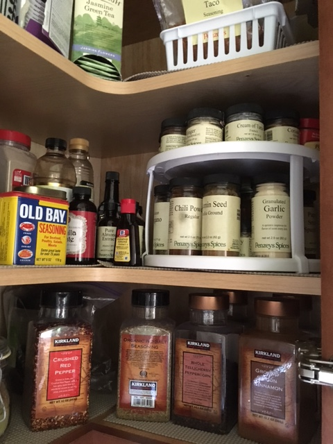 There is nothing minimal about my spice cabinet!