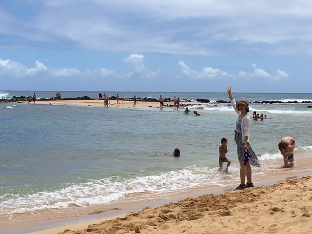 A beautiful day at Poipu Beach Park on the south shore