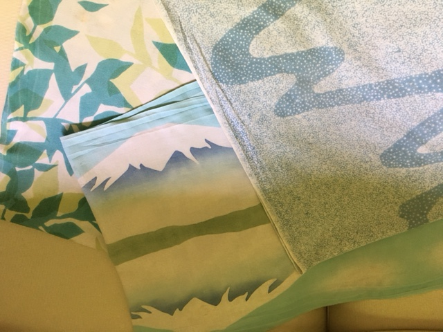 Summer designs and colors, including one with Mt. Fuji