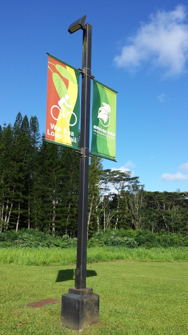 loop trail and ana'ina park sign