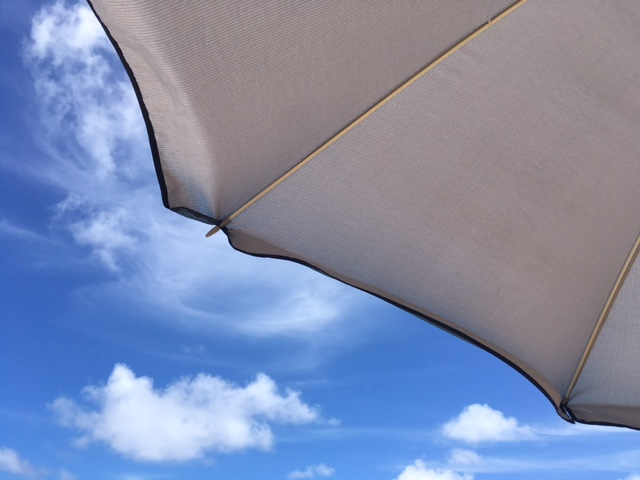 One of the views from my beach chair on Saturday