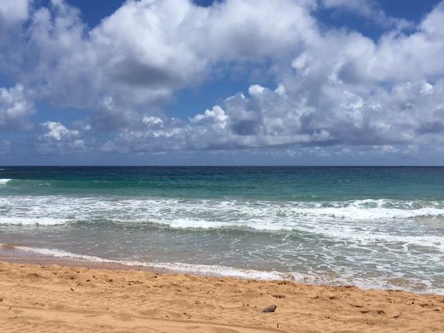 Beautiful shades of blue at the beach last week
