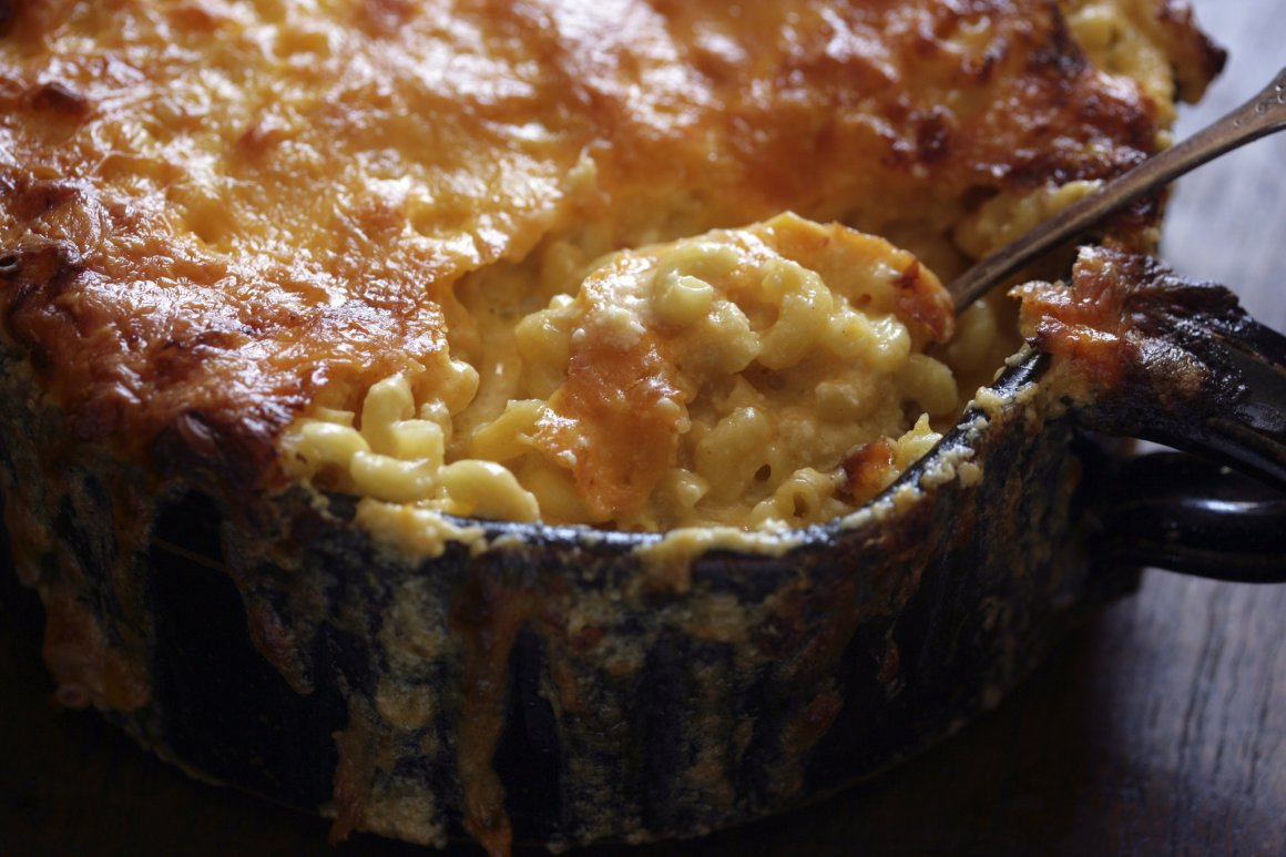 Creamy macaroni & cheese (photo from the NY Times)