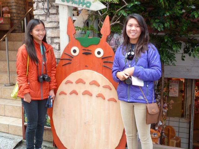 A store with nothing but Studio Ghibli merchandise on the way to Hachimangu shrine - the girls were in heaven!