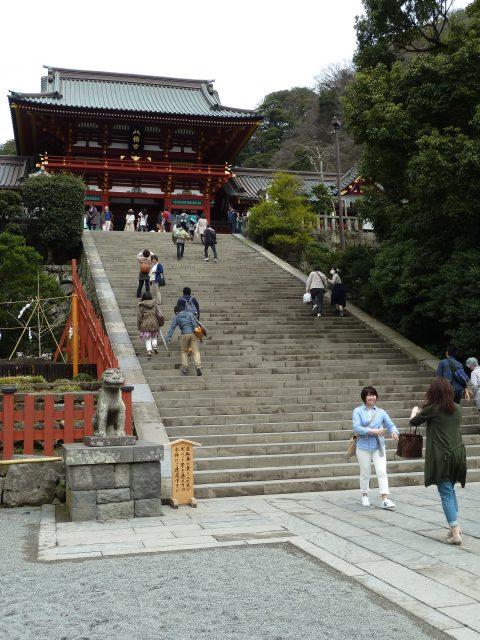 The main shrine building at Hachimangu