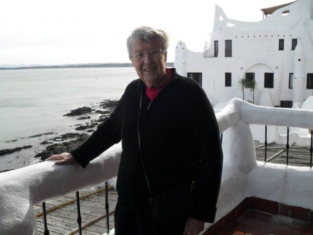 Mom in Uruguay in 2009 - still traveling at 85!