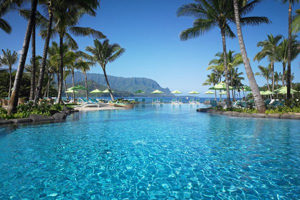 I could easily stay here for a night - the St. Regis in Princeville.
