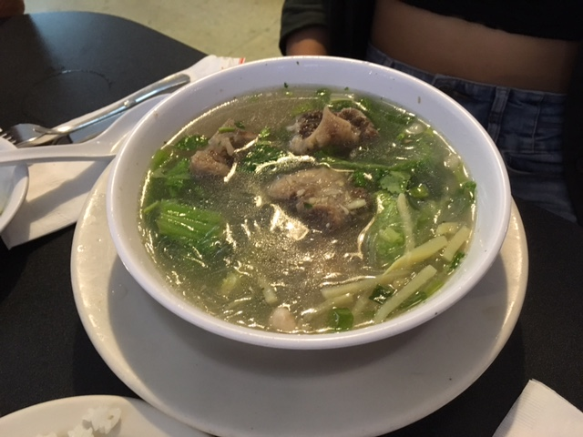 The Tip Top's oxtail soup is legendary. It comes in three sizes - this is a small!