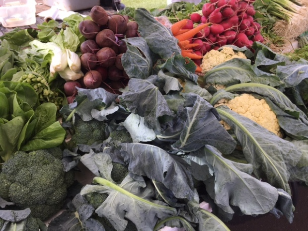 There's been an amazing variety of produce at the farmers' market the past few weeks.