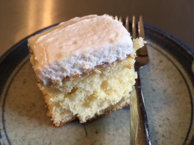 Yellow butter cake with vanilla buttercream