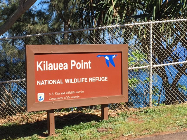 Kilauea Point National Wildlife Refuge sign