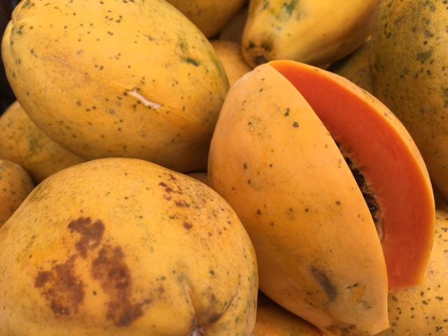 Ripe papayas