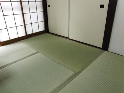 Fresh tatami mats are green;