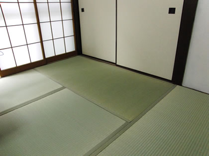 Fresh tatami mats are green;