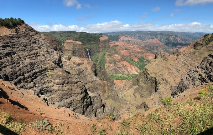 Waipo'o Falls and Waimea Canyon