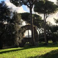 Ancient Roman aqueduct on Palantine Hill
