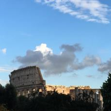 Looking back at the Colosseum from Palantine Hill